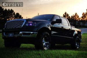 """2004 Ford F-150 - 18x9.5 0mm - Pro Comp Black And Chrome - Body Lift 3"""" - 35"""" x 12.5"""""""