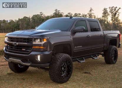 "2016 Chevrolet Silverado 1500 - 20x12 -44mm - Hostile Sprocket - Suspension Lift 6.5"" - 35"" x 12.5"""