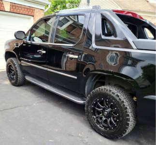 """2007 Cadillac Escalade EXT - 18x9 0mm - Fuel Vandal - Stock Suspension - 33"""" x 9.5"""""""