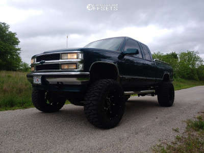 "1997 Chevrolet K1500 - 20x12 -51mm - Vision Prowler - Suspension Lift 6"" & Body 3"" - 375/55R20"