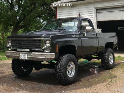 "1980 Chevrolet K10 - 16x10 -38mm - Alloy Ion 171 - Suspension Lift 4"" - 35"" x 12.5"""