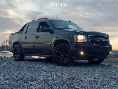 "2007 Chevrolet Avalanche 1500 - 20x10 34mm - Luxxx Hd Lhd26 - Suspension Lift 2.5"" - 33"" x 12.5"""