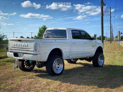 """2018 Ram 2500 - 24x12 -44mm - Xf Offroad Xf-301 - Suspension Lift 6.5"""" - 35"""" x 12.5"""""""