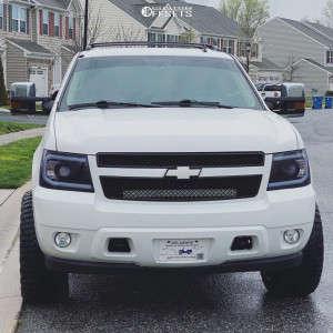 "2011 Chevrolet Avalanche - 22x12 -44mm - Hardrock Painkiller Xposed - Suspension Lift 3.5"" - 33"" x 12.5"""