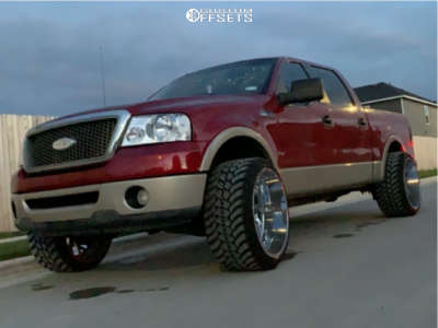 """2007 Ford F-150 - 24x14 -76mm - Xtreme Force Xf-8 - Leveling Kit - 33"""" x 13.5"""""""