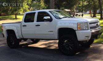 "2008 Chevrolet Silverado 1500 - 20x10 -12mm - Fuel Maverick - Suspension Lift 7.5"" - 35"" x 12.5"""