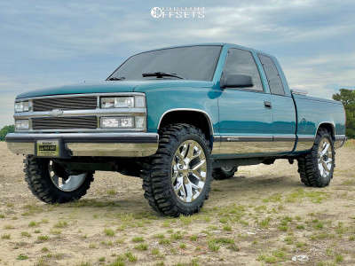 "1998 Chevrolet K1500 - 22x9 30mm - OE Replicas Flakes - Suspension Lift 3"" - 35"" x 12.5"""