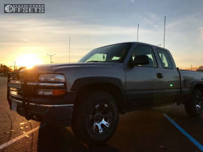 2000 Chevrolet Silverado 1500 - 16x8 -6mm - American Outlaw Outlaw - Stock Suspension - 265/75R16