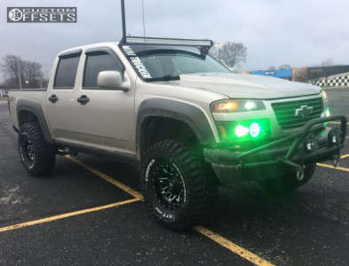 """2008 Chevrolet Colorado - 15x8 -18mm - Fuel Lethal - Leveling Kit & Body Lift - 33"""" x 12.5"""""""