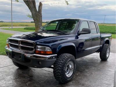 "2004 Dodge Dakota - 15x10 -32mm - Alloy Ion 171 - Stock Suspension - 31"" x 10.5"""