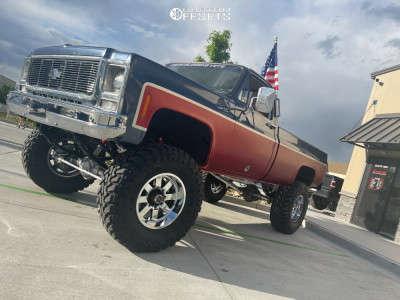 "1979 Chevrolet K20 - 18x12 -44mm - Moto Metal Mo962 - Suspension Lift 8"" - 38"" x 12.5"""