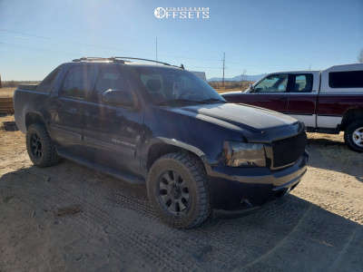 """2011 Chevrolet Avalanche - 20x9 0mm - Dirty Life Ironman - Stock Suspension - 25"""" x 9.5"""""""