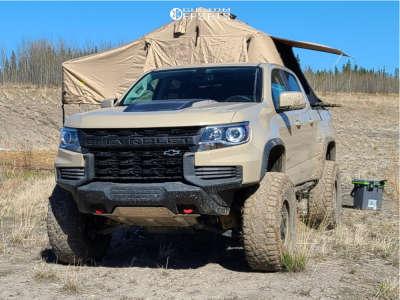 "2021 Chevrolet Colorado - 17x9 -12mm - XF Offroad Xf-209 - Suspension Lift 4"" - 35"" x 12.5"""