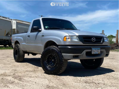 "2002 Mazda B2300 - 15x8 -19mm - Pro Comp Series 252 - Suspension Lift 4"" - 32"" x 11.5"""