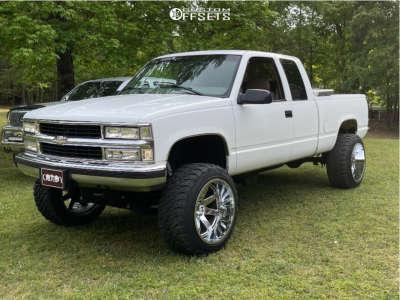 """1998 Chevrolet K1500 - 22x14 -44mm - Hostile Vulcan - Suspension Lift 6"""" - 35"""" x 12.5"""""""
