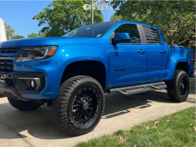 "2021 Chevrolet Colorado - 18x9 0mm - Anthem Off-Road Equalizer - Suspension Lift 4"" - 285/12.5R18"