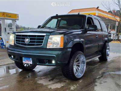 "2005 Cadillac Escalade - 24x14 -76mm - Tuff T2a - Leveling Kit - 33"" x 12.5"""