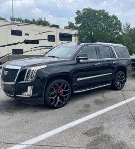 2016 Cadillac Escalade - 24x9.5 0mm - OE Replicas Flakes - Stock Suspension - 295/35R24