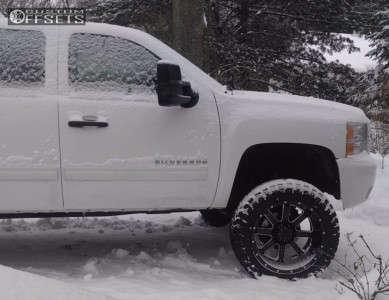 "2010 Chevrolet Silverado 1500 - 22x12 -44mm - Gear Off-Road 726 - Suspension Lift 6.5"" - 35"" x 12.5"""
