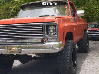"1979 Chevrolet K20 - 20x12 -51mm - Vision Widow - Stock Suspension - 35"" x 12.5"""
