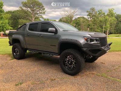 """2018 Chevrolet Colorado - 20x9 19mm - Fuel Stroke - Suspension Lift 5.5"""" - 35"""" x 12.5"""""""