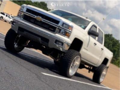 "2014 Chevrolet Silverado 1500 - 24x12 -44mm - Axe Offroad Ax1.9 - Suspension Lift 10"" - 35"" x 12.5"""