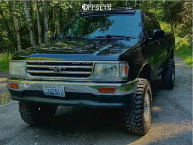 """1996 Toyota T100 - 15x10 -48mm - Pacer 164 - Suspension Lift 3"""" - 31"""" x 10.5"""""""