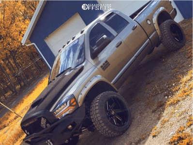 "2007 Dodge Ram 2500 - 22x12 -51mm - ARKON OFF-ROAD Lincoln - Suspension Lift 3.5"" - 35"" x 12.5"""