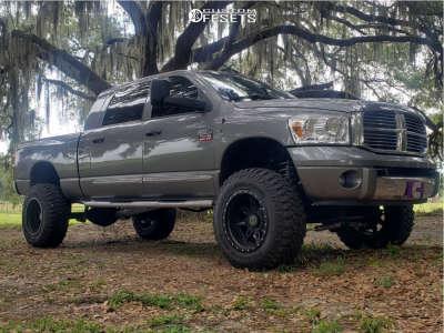 "2008 Dodge Ram 2500 - 20x12 -44mm - Anthem Off-Road Rogue - Suspension Lift 6"" - 37"" x 12.5"""
