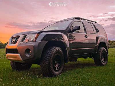 "2010 Nissan Xterra - 16x8 15mm - Fuel Vector - Air Suspension - 33"" x 11.5"""