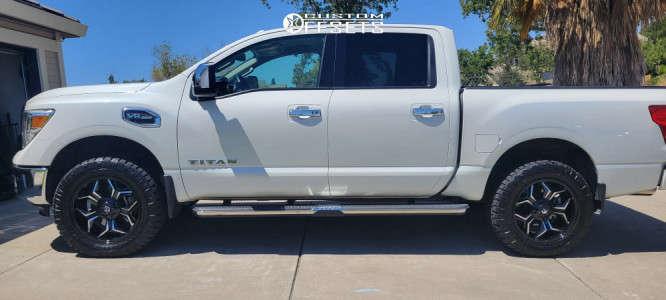 2017 Nissan Titan - 20x9 1mm - Fuel Avenger - Leveling Kit - 275/60R20