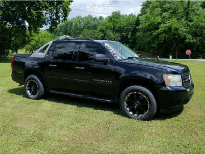 2007 Chevrolet Avalanche - 20x9 -12mm - Panther Offroad 815 - Stock Suspension - 275/55R20
