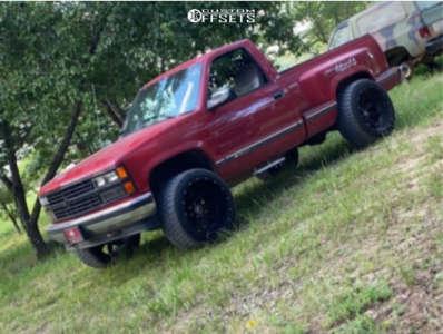 """1990 Chevrolet K1500 - 22x14 -76mm - Hostile Alpha - Leveling Kit - 33"""" x 12.5"""""""