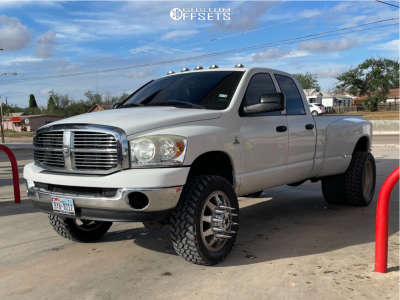 """2009 Dodge Ram 3500 - 22x8.5 0mm - American Force Independence - Suspension Lift 3"""" - 35"""" x 12.5"""""""
