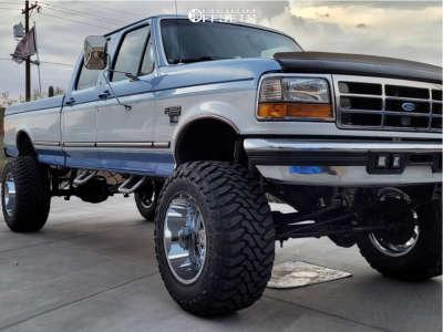 "1996 Ford F-350 - 20x14 -76mm - Full Throttle Ft-2 - Suspension Lift 7"" - 38"" x 15.5"""