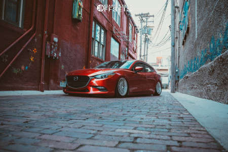 2018 Mazda 3 - 18x8.5 30mm - ESR Sr01 - Air Suspension - 225/40R18
