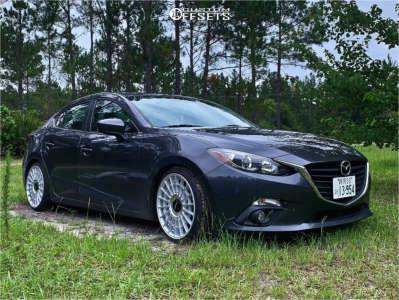 2015 Mazda 3 - 18x8.5 45mm - Rotiform Las-r - Coilovers - 215/35R18