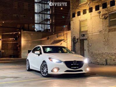 2016 Mazda 3 - 18x8.5 35mm - AVID1 Av32 - Lowering Springs - 235/40R18