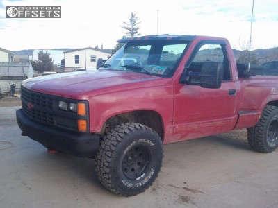 "1989 Chevrolet K1500 - 15x8 -19mm - American Racing Baja - Stock Suspension - 33"" x 12.5"""