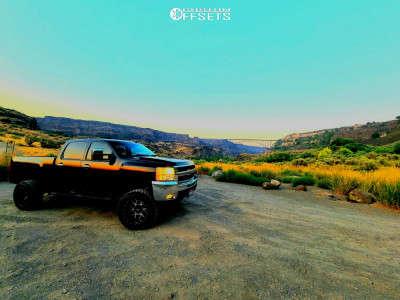 "2008 Chevrolet Silverado 2500 HD - 20x12 -51mm - Vision Sliver - Suspension Lift 6"" - 35"" x 12.5"""