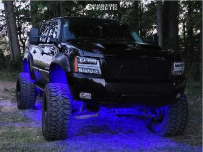 "2008 Chevrolet Avalanche - 20x12 -43mm - Fuel Stroke - Suspension Lift 7.5"" & Body 3"" - 38"" x 15.5"""