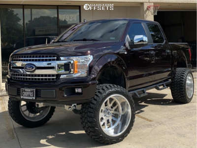 """2020 Ford F-150 - 24x14 -76mm - Fuel Forged Ff45 - Suspension Lift 9"""" - 37"""" x 14.5"""""""
