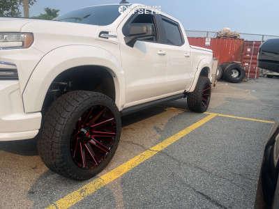 """2021 Chevrolet Silverado 1500 - 24x12 -44mm - Fuel Contra D615 - Suspension Lift 6"""" - 325/45R24"""