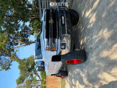 """2017 Chevrolet Silverado 2500 HD - 22x12 -44mm - TIS 544rm - Suspension Lift 6.5"""" - 37"""" x 13.5"""""""