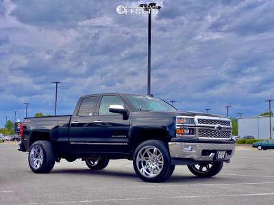 "2014 Chevrolet Silverado 1500 - 22x12 -44mm - RBP 82r - Suspension Lift 3"" - 33"" x 12.5"""