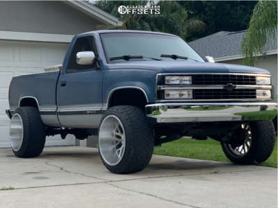 """1990 Chevrolet K1500 - 22x14 -76mm - Axe Offroad Ax1.1 - Leveling Kit - 33"""" x 12.5"""""""