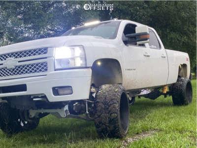 "2008 Chevrolet Silverado 2500 HD - 24x14 -76mm - Hostile Demon - Suspension Lift 6"" - 35"" x 13.5"""