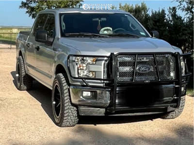 2017 Ford F-150 - 20x10 -12mm - Wicked Offroad W903 - Leveling Kit - 285/60R20