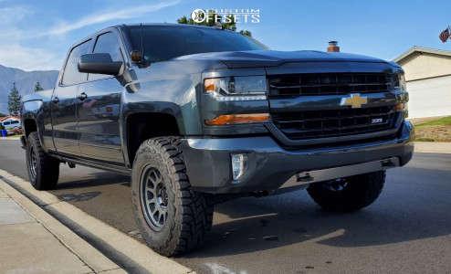 "2018 Chevrolet Silverado 1500 - 17x8.5 0mm - Method Mr703 - Suspension Lift 3"" - 295/11.5R17"