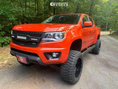 "2016 Chevrolet Colorado - 20x12 -44mm - American Offroad A108 - Suspension Lift 6"" - 33"" x 12.5"""